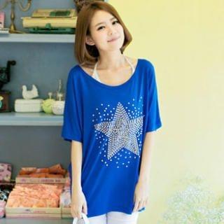 Tokyo Fashion - Short-Sleeve Studded T-Shirt