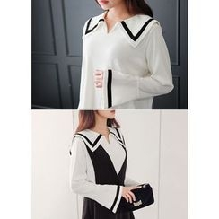 J-ANN - Sailor-Collar Top