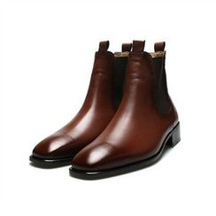 THE COVER - Genuine Leather Ankle Boots