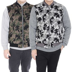 Seoul Homme - Camouflage Zip-Up Vest