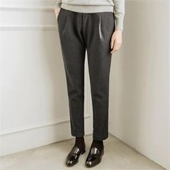 JOAMOM - Band-Waist Stright-Cut Pants