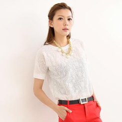 SO Central - Short-Sleeved Lace Top