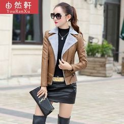 Billow Sky - Faux Leather Jacket