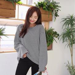 Envy Look - Round-Neck Stripe T-Shirt