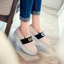 Pretty in Boots - Platform Slip Ons
