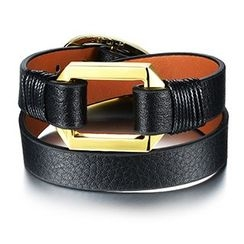 Creole - Buckle Genuine Leather Bracelet
