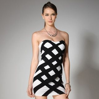 YesStyle Z - Strapless Criss Cross  Bodycon Dress