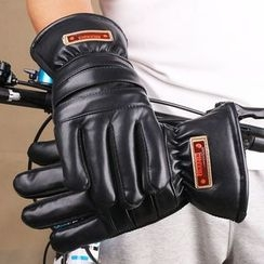 Fow Fow - Faux Leather Biker Gloves