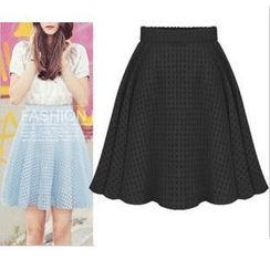 LIVA GIRL - Check A-Line Skirt