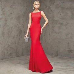 Royal Style - Sleeveless Mermaid Evening Gown