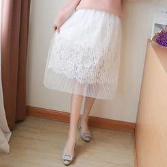 Fashion Street - Lace Panel Skirt