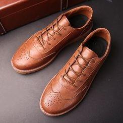 Tabris - Lace-Up Wingtip Shoes