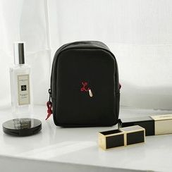 BABOSARANG - Lipstick Embroidered Cosmetic Pouch