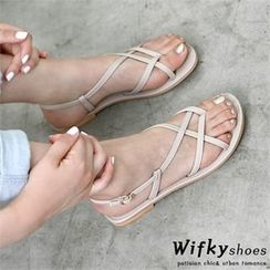 Wifky - Strappy Buckled Sandals