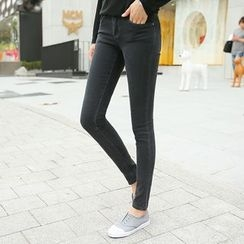 CLICK - Washed Skinny Jeans