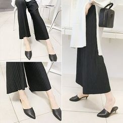 MARSHMALLOW - Drawstring-Waist Pleated Wide-Leg Pants