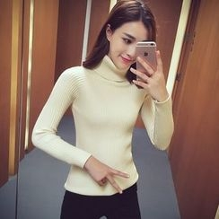 Cocofield - Turtleneck Ribbed Sweater