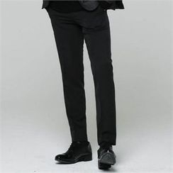 BYMONO - Flat-Front Slim-Fit Dress Pants