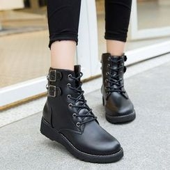 Wello - Lace-Up Short Boots