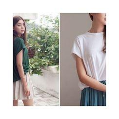 MASoeur - Cap-Sleeve Shirred-Side Top