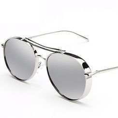 JUNHOVER - Mirrored Aviator Sunglasses