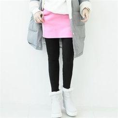 GLAM12 - Inset Color-Block Skirt Lenggings