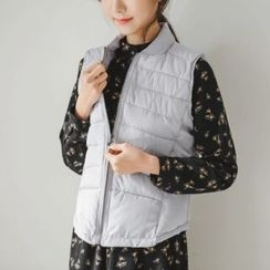 JUSTONE - Stand-Collar Zip-Up Padded Vest