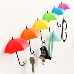 Lazy Corner - Set of 3: Umbrella Wall Hooks
