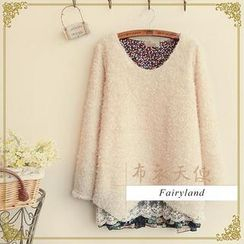 Fairyland - Lace Hem Bouclé Sweater