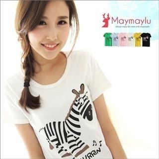 Maymaylu Dreams - Zebra-Print T-Shirt