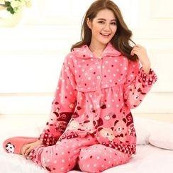Kream - Pajama Set: Nursery Fleece Top + Pants