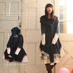 Nectarine - Long-Sleeve Hooded Panel Dress