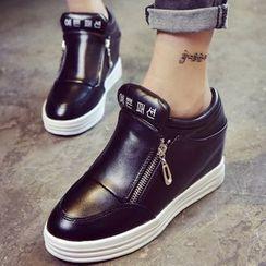 Max Dash - Hidden Wedge Zip Sneakers