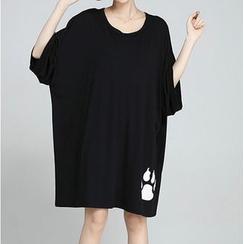 Clover Dream - 3/4-Sleeve Print T-Shirt Dress