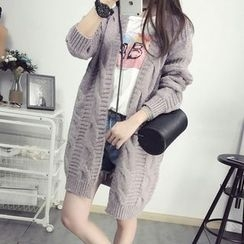 Maine - Long Cable-Knit Cardigan