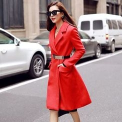 Lovi - Lapel Knit Coatdress