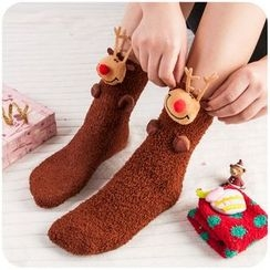 Momoi - Christmas Coral Fleece Socks