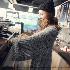NANING9 - Wool Blend Drop-Shoulder Knit Dress
