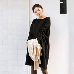 JUSTONE - Boat-Neck Pocket-Side Pullover Dress