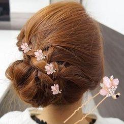 MI LI - Set of 4: Rhinestone Hair Stick