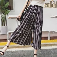 Glen Glam - Striped Wide Leg Pants