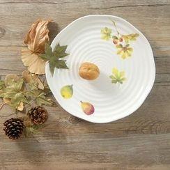 Gukan - 树叶印花碟