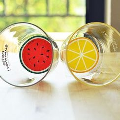 OH.LEELY - Fruit Print Drinking Glass
