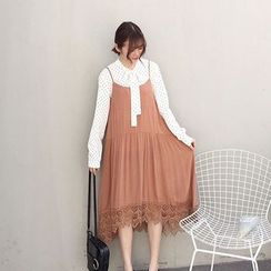 Mayflower - Lace Hem Slipdress