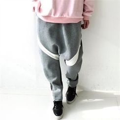 GLAM12 - Fleece-Lined Harem Sweat Pants