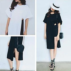 Champi - Side-Slit T-Shirt Dress