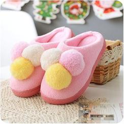 Desu - 毛毛球拖鞋