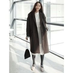 maybe-baby - Single-Breasted Wool Blend Coat