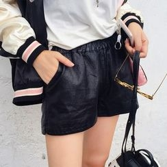 Deerie - Faux-Leather Shorts