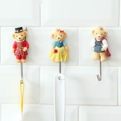 Lazy Corner - Non-marking Adhesive Bear Wall Hook